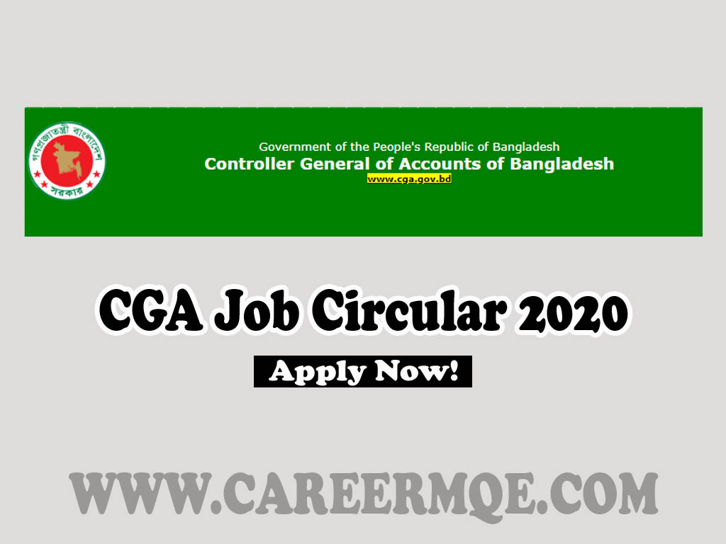 Controller General of Accounts of Bangladesh CGA Auditor Job Circular 2020