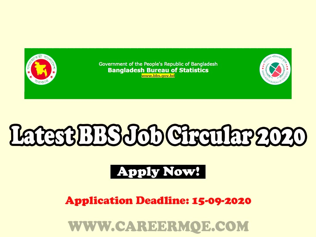 Bangladesh Bureau of Statistics BBS Latest Job Circular 2020, Teletalk Apply Online