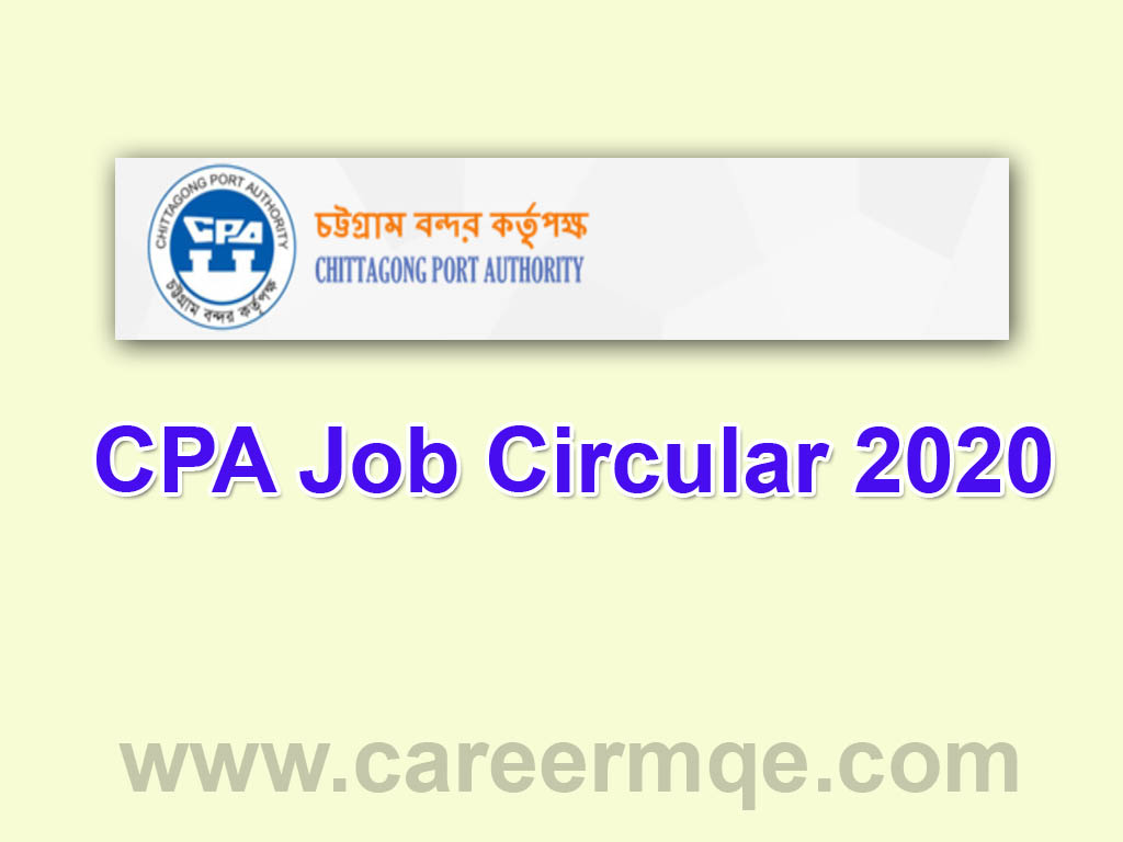 Chittagong Port Authority CPA Auditor Job Circular 2020